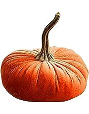 Pompoen pluche sierkussens, fluwelen kussens, zachte gevulde pompoen pluche speelgoed, herfst Halloween Thanksgiving woondecoratie