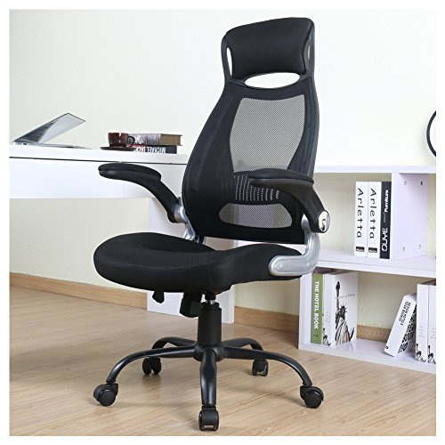 BERLMAN High Back Mesh Office Chair with Adjustable Armrest Swivel Task Desk Chair Computer - Attached With Swivel Chair Desk