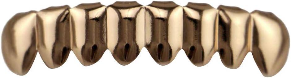 Griglie Inferiori Bianco sharprepublic Set di Griglie per I Denti Hip Hop per Gli Uomini Griglie per Halloween Accessori Cosplay