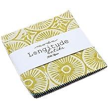 "Longitude Batiks Charm Pack By Kate Spain; 42 - 5"" Precut Fabric Quilt Squares"