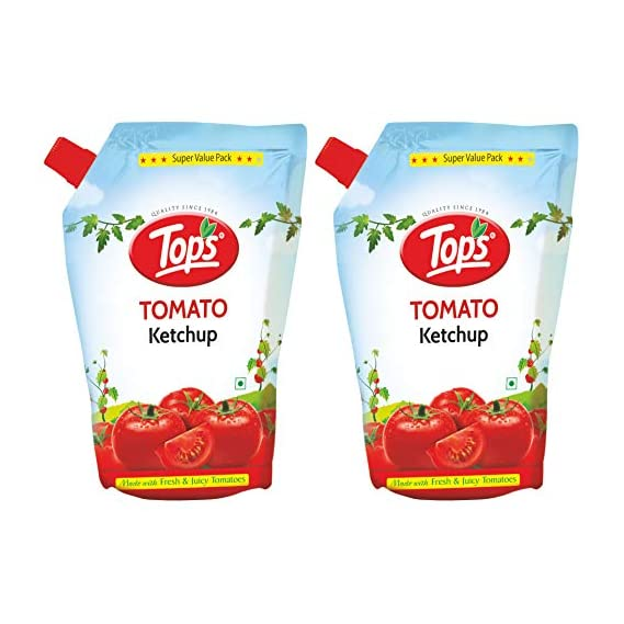 Tops Tomato Ketchup 950gm Pouch, Pack of 2