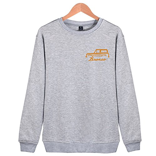 Maggie Duncan Round Neck Sweatshirts 1966-77 Ford Bronco Embroidered Hoodies For Mens ()