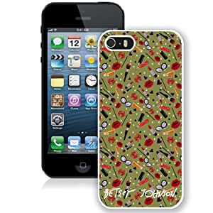 Fashion iPhone 5S Betsey Johnson 22 White Screen Cover Case Luxury and Genuine Design