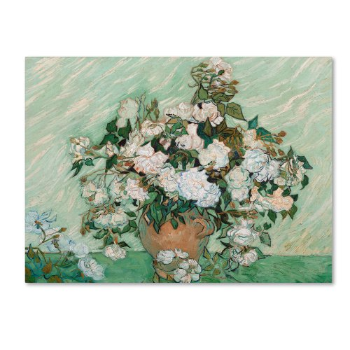 Roses 1890 Artwork by Vincent van Gogh, 18 by 24-Inch Canvas Wall Art