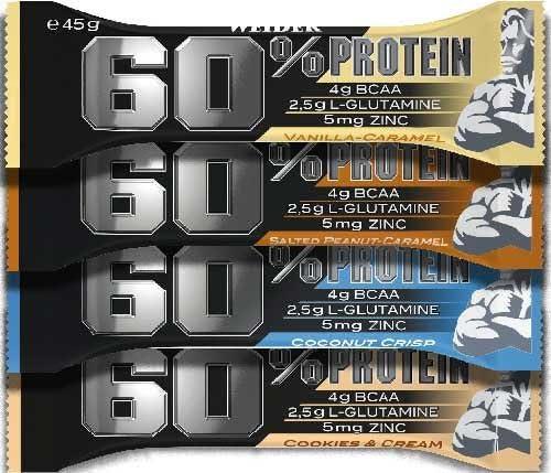 24 Riegel 60% Protein Riegel à 45 g - 27 Gramm Protein pro Riegel! (Vanille-Caramel)