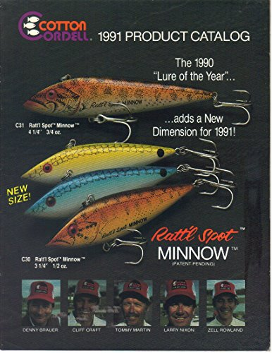 - Cordell Fishing Lure Fishing Product Catalog Guide-Rattl Spot Minnow, 1991