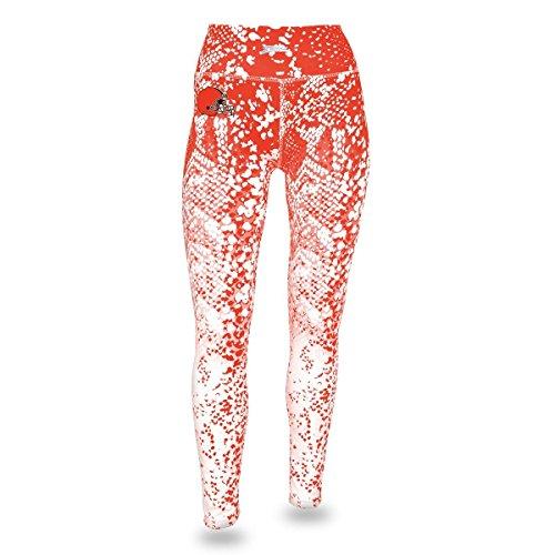 NFL Cleveland Browns Women's Zubaz Gradient Print Team Logo Leggings, Small, Orange/White