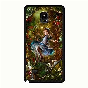 Samsung Galaxy Note 4 Cover Case Alice'S Adventures In Wonderland Phone Case Visual Design Phone Case Alice Cover Case
