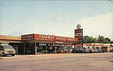 Fairway Dodge Sales Inc. Hamburg, New York Original Vintage Postcard