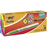Bic Mark-It Color Collection Permanent Markers, Ultra Fine Point, Assorted, 12 Markers