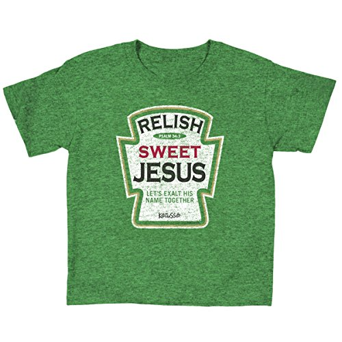 Relish Sweet Jesus, Kidz Tee, MD, Green - Christian Fashion Gifts