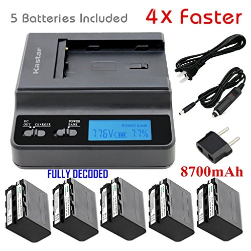 Kastar Ultra Fast Charger(4X faster) Kit and Battery (5-P...