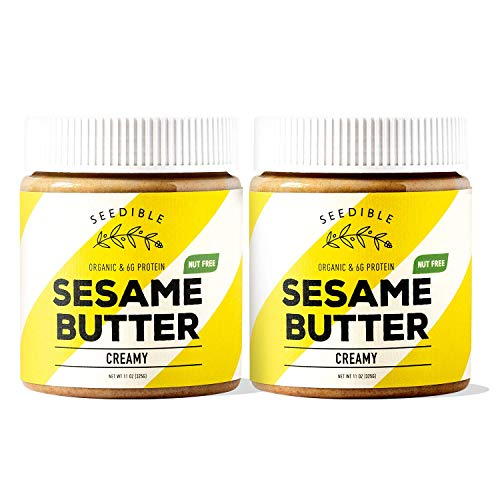 Organic Sesame Butter. All Natural, Nut-Free Sesame Spread (Creamy, 2 Pack)