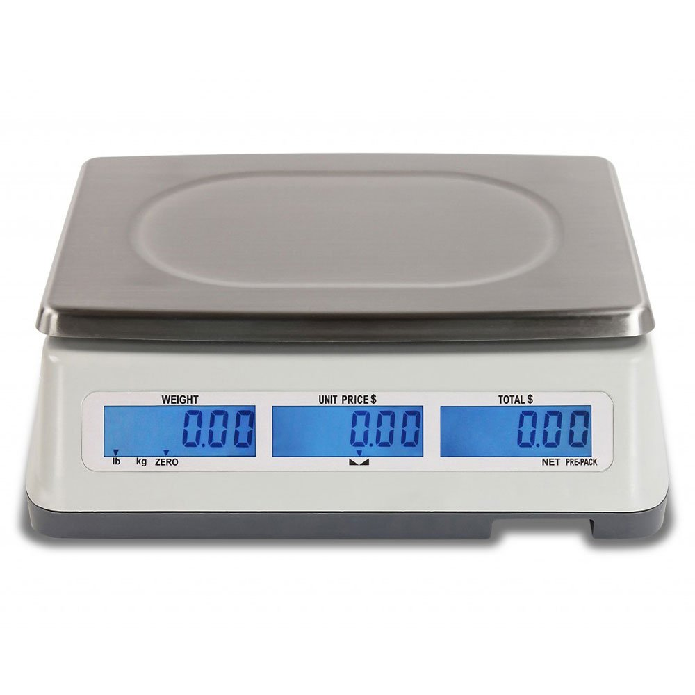 Detecto D15 Price Computing Scale, Electronic, 13.4'' W x 13.4'' D, 15 lb. Capacity