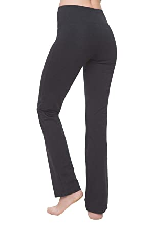 937889ef17b NIRLON Yoga Pants for Women High Waisted Tummy Control Workout Leggings  Straight Leg (S