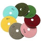 UEETEK Diamond Polishing Pads Wet / Dry Grinding Disc For Granite Marble Concrete Stone 8pcs