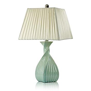 LQQGXL Lámpara de Mesa de cerámica lámpara de cabecera ...