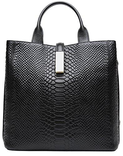 in pelle per donna saldo nero design coccodrillo nero designer Borse vera Weidu in in di Borse tBXqvntR1