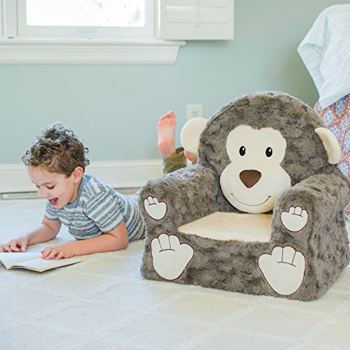 51XMMxVn3UL - Sweet Seats | Brown Monkey Children's Chair | Large Size | Machine Washable Cover