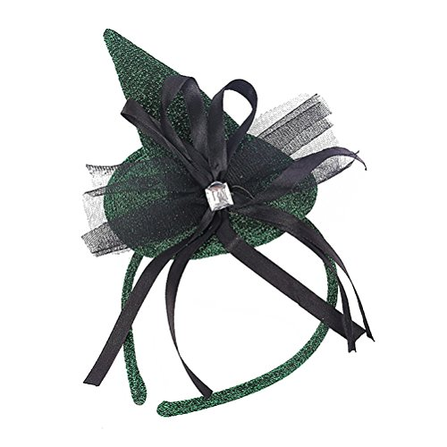 Tinksky Halloween Fascinator Headband Feather Party Mesh Billycock Hat for Women Performance Supplies Halloween Costumes (Halloween Ideas For Women)