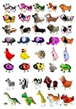 SET OF 150 WALKING ANIMAL BALLOON PETS AIR WALKERS, MIXED
