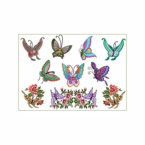 (ABC Machine Embroidery Designs Set on the CD Oriental Butterflies - 9 Designs, 4