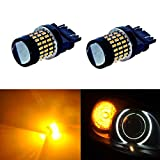 JDM ASTAR Super Bright 78-EX Chipsets 3056 3156 3057 3157 LED Bulbs with Projector,Yellow ( Only work for standard socket , not for ck socket)