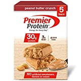 Premier Protein 30g Protein Bar, Peanut Butter Crunch, 2.53 oz Bar, (5 Count)