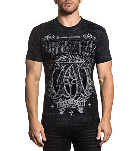 Affliction Men's Black Existence Short Sleeve Tee ()