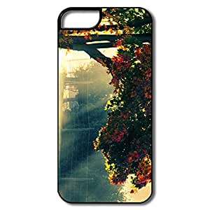 IPhone 5 Covers, Autumn Morning Cases For IPhone 5 - White/black Hard Plastic