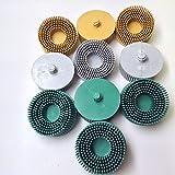 10pc Ceramic Bristle Disc 2'' Assortment - (4) 50 Grit, (3) 80 Grit, (3) 120 Grit