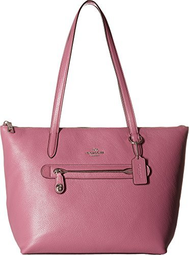 COACH Women's Taylor Tote in Pebbled Leather Sv/Primrose One ()