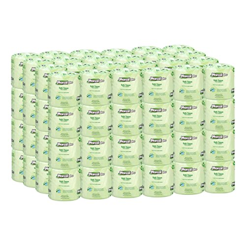 Marcal Pro Toilet Paper, 100% Recycled - 2-Ply, White, 500 Soft & Absorbent Sheets per Roll, 96 Rolls per Case - Green Seal Certified, Bulk Office Bath Tissue 05002
