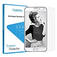 Galaxy S5 Screen Protector - TURATA Premium Crystal Clear Unique Material Ultra Thin for Samsung Galaxy S5 Protection from Bumps Drops Scrapes