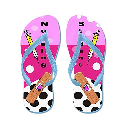 Cafepress Sjuksköterskestudent Ff 1 - Flip Flops, Roliga Rem Sandaler, Strand Sandaler Caribbean Blue
