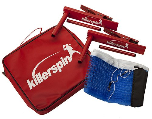 Killerspin Table Tennis Clip-On Net & Post Set - Definitely the Easiest Net & Post Set to Assemble by Killerspin