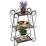 New Brown 3-Tier Plant Shelf Outdoor/Indoor Patio