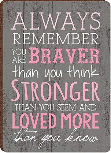 Always Remember You Are Braver Breast Cancer Awareness Wood (Breast Cancer Gift)