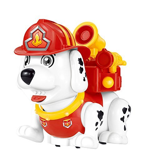 Gili Electronic Pets for Toddlers, Walking Dancing Talking Toy Dog, Interactive RC Robot Firehouse Dog for Boys or Girls Age 2, 3, 4
