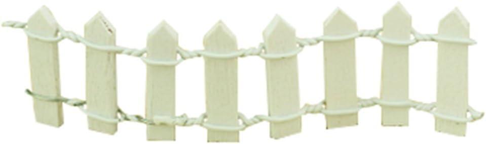 outflower miniatura decoración para vallas de jardín de hadas DIY Dollhouse decoración del jardín decoración para el hogar, color blanco, resina, Blanco, 3*10cm: Amazon.es: Hogar