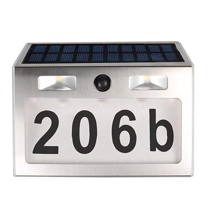 Occitop - Lámpara Solar LED Impermeable con Sensor de Movimiento para Exteriores: Amazon.es: Hogar