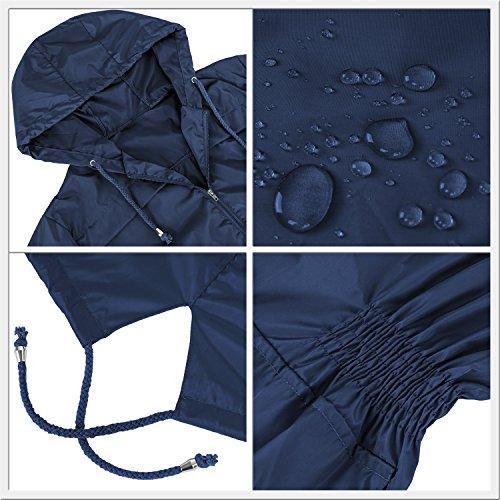 Antipioggia Donna Poncho HENCY per Navy Raincoat Blu Impermeabile viaggio Giacca Moto Opaco Bicicletta Camping nAppxUT