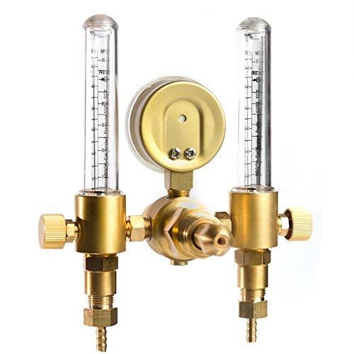 Regulator 1YR WARRANTY 10 to 60 CFH SPARC Dual Output Argon MIG TIG Flow Meter