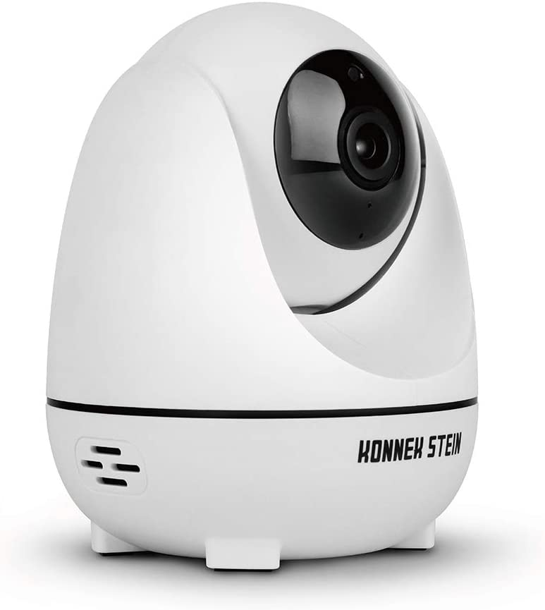 Konnek Stein Camera Dome Surveillance Cameras WiFi Home Security Systems 360 Degree Monitoring HD 1080P Motion Detection IR Night Vision App Remote Control Two-Way Audio 3 Storage SD Card Slot White