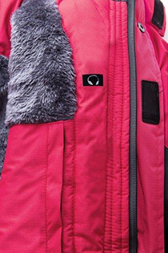 Mujer Rosa Senderismo Con Forro Para Impermeable De Wantdo Contraiento Chaqueta Esquí Polar HxPpqvTwF