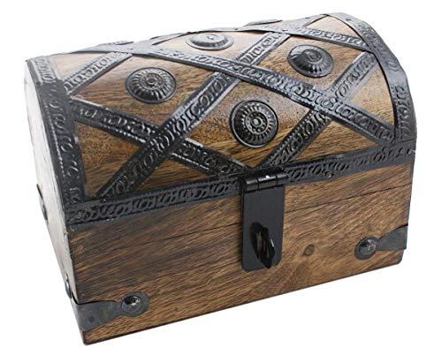 - Axventari Treasure Chest Wood 6.5x4.5x5 Keepsake Jewelry Box Toy Treasure Box Medium