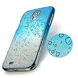 Lookatool for Samsung Galaxy S4 SIV i9500 Gradual change Raindrop Hard Case Cover (Sky Blue)