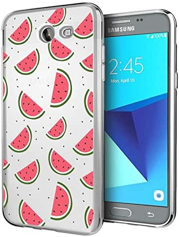 Fantasydao Compatible / Remplacement for Samsung Galaxy J7 2017 Case Ultra-Thin Soft TPU Silicone Shock Absorption Protective Cover Anti-Scratch Bumper for Galaxy J7 2017 (Watermelon)