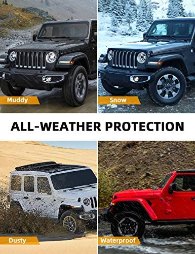 JOYTUTUS Cargo Mats suits Wrangler JL with OEM Subwoofer, All-Weather Protection Cargo Mats Trunk Liner Vehicle Carpet Heavy Duty Waterproof Odorless Durable suits Wrangler JL 2018 2019 2020 2021 4 Door