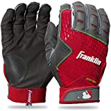 Franklin Sports 2nd-Skinz® Batting Gloves Gray/Red Adult Large